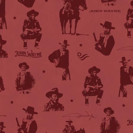 John Wayne Silhouettes red