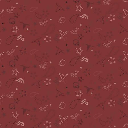 C8574-RED John Wayne Bandanna Red Riley Blake