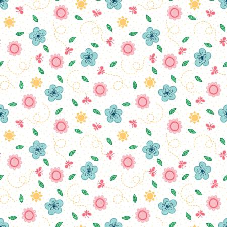 Flutter And Shine Floral White