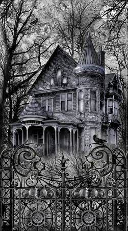 Black Wicked Haunted House Panel