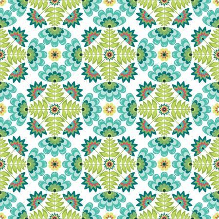 Lucy's Garden Tile Teal