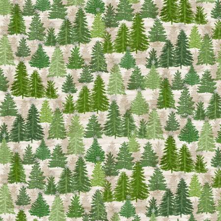 Natural Pine Trees On Wood