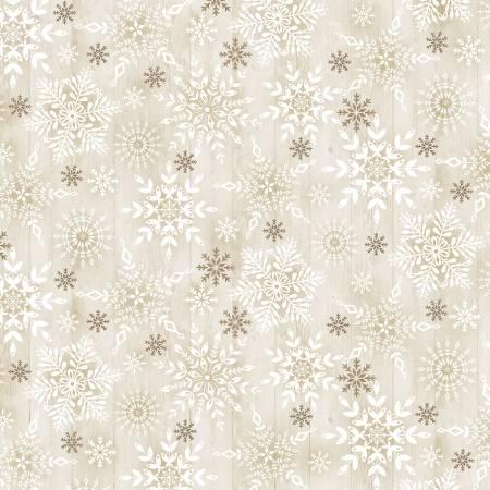 Stamped Snowflakes On Wood Natural