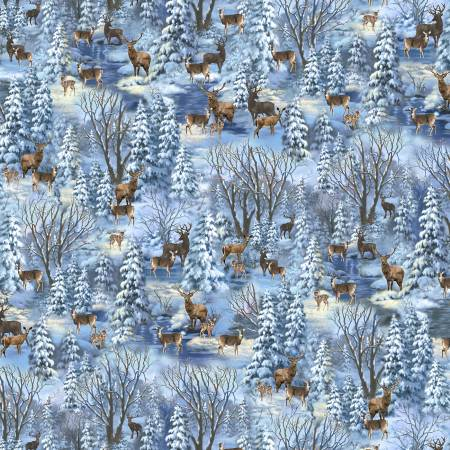 Corbert C8663 Twilight Christmas Forest Blue