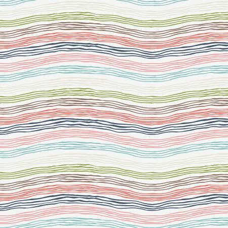 Sew Retro Waves Cream C8714
