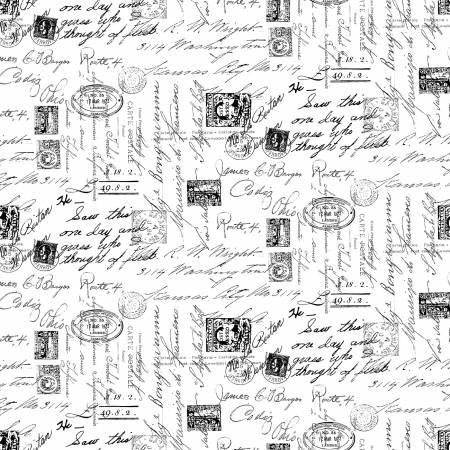 Ink Drawings--White Fancy Script Text