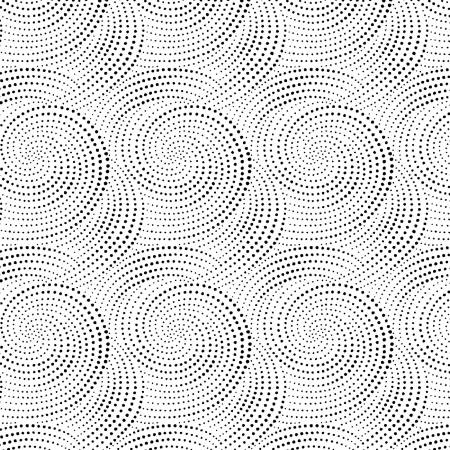 Ink Drawing--White Dotted Spirals