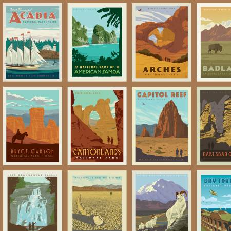 Riley Blake - National Parks - Posters Sand, yardage