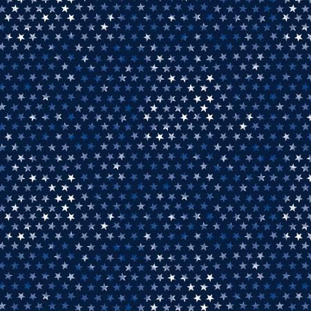 Navy Tie Dye Patriotic Stars