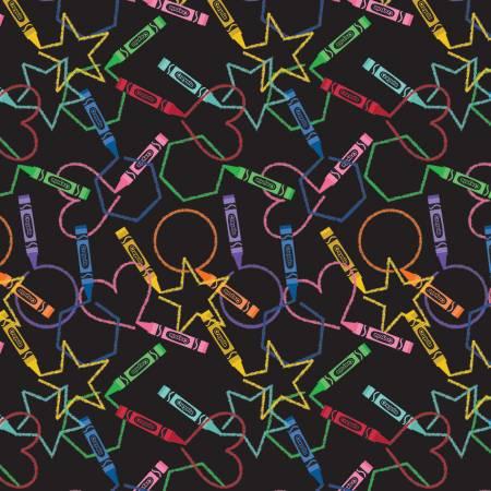 I Dream In Color Crayola Main Black
