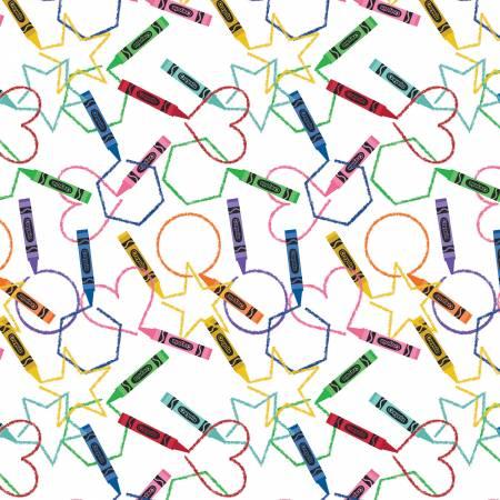 I Dream In Color Crayola Main White