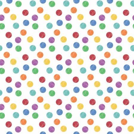 I Dream In Color Crayola Polkadot White