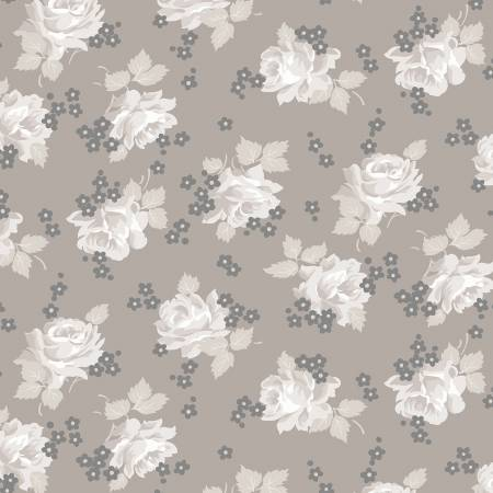 Serenity Roses Taupe C8811
