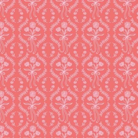 Riley Blake Pemberley Wallpaper Coral C8825