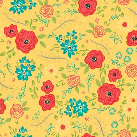 Wildflower Boutique Main Yellow C8830-YELLO
