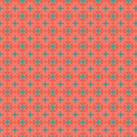 Wildflower Boutique Mosaic Coral C8831-CORAL