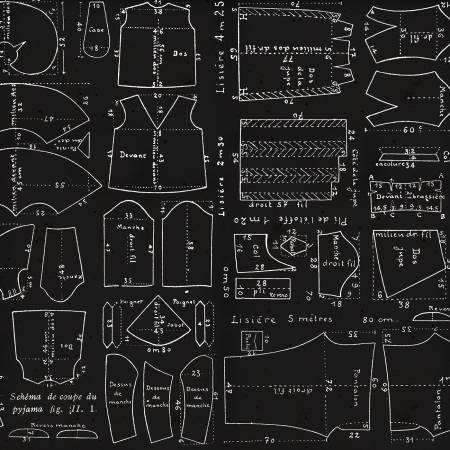 Couture Parisienne Patrons Texture - Black