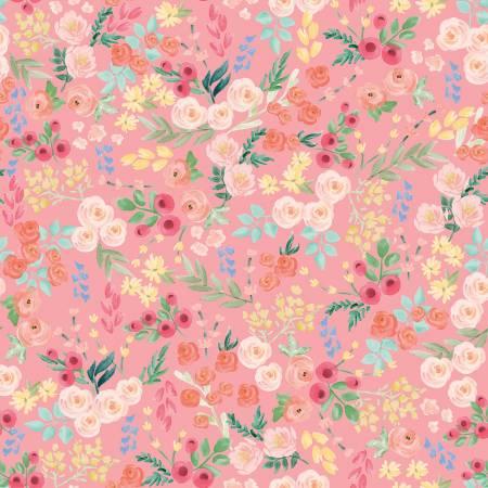 Flower Market Wallpaper Lt Coral