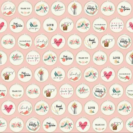 C8922-PINK Hoops Pink Flower Market Riley Blake