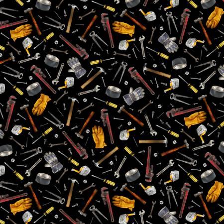 Black Tossed Garage Workshop Tools C8939-BLACK