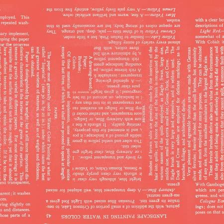 Painters Palette Watercolor Text Coral