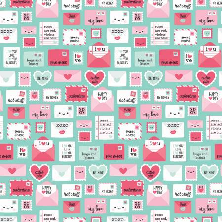 Novelty Valentine in Teal