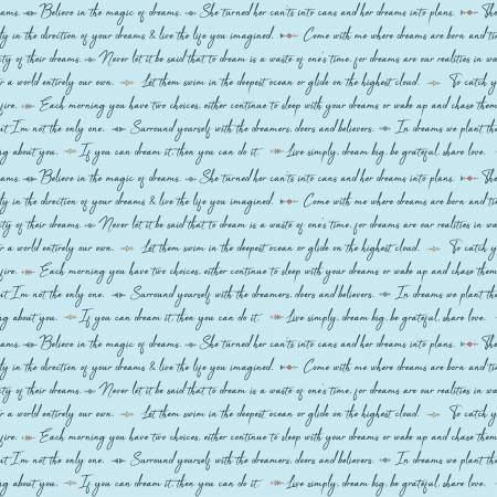 Dream Weaver Text Blue
