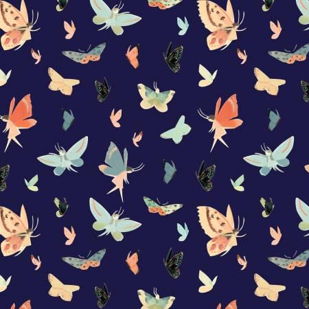 Dream World Butterflies-Navy