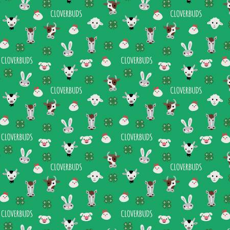 4-H Cloverbuds Green by Riley Blake Designs C9122Green