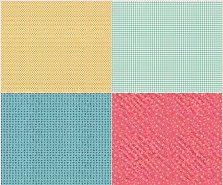 Vintage Happy 2 Fat Quarter Panel Two