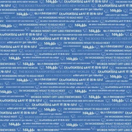 Matilda Text Blue