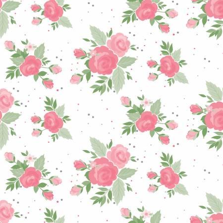 WINIFRED ROSE ROSES & DOTS MULTI/WHITE