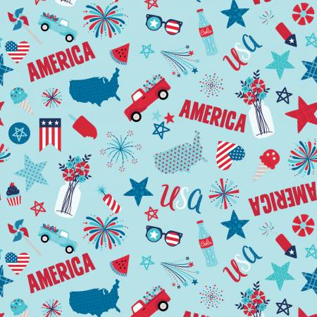 Fireworks & Freedom - Main Aqua