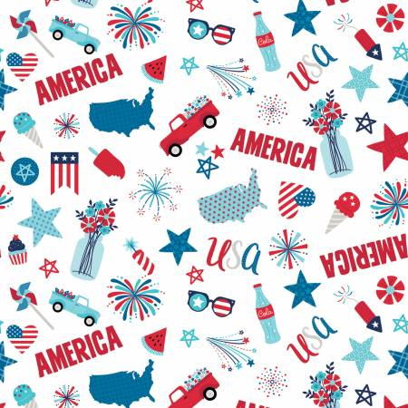 Fireworks & Freedom Main White