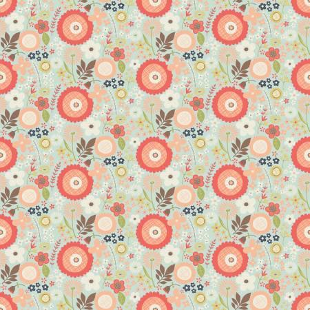 RB Woodland Springs Floral AQUA