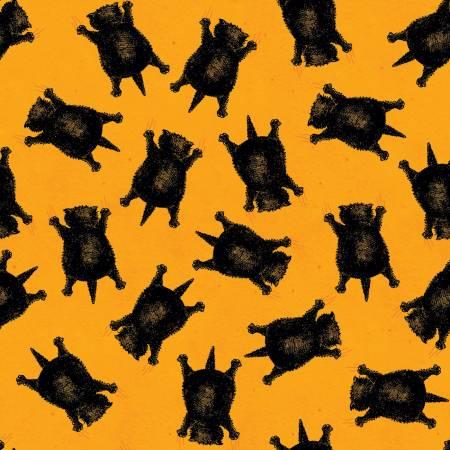 Riley Blake Goose Tales Scaredy Cats Toss in Orange