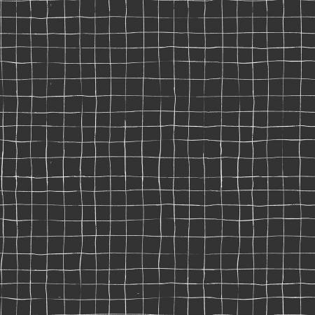 Scaredy Cat Grid Charcoal / RBD