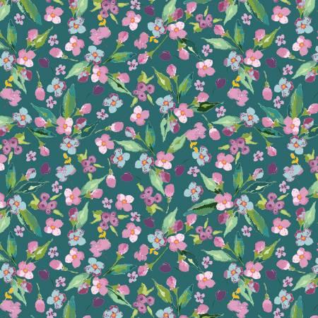 Hampton Garden Floral Teal