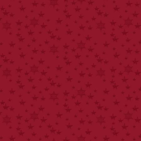 C9472-RED Red Stars John Wayne Americana
