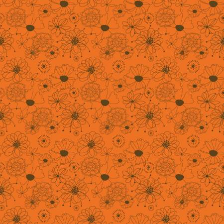 Give Thanks by Sandy Gervais for Riley Blake C9521 Flowers Orange