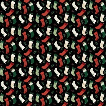 Christmas Traditions Stockings Black - C9594R