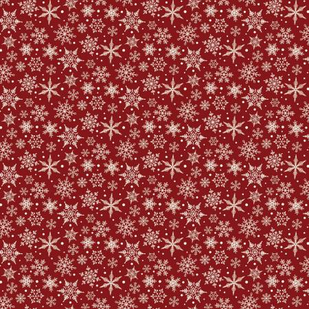 Christmas Traditions Snowflakes Red