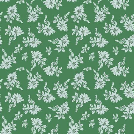 Santa Claus Lane Poinsettias Green