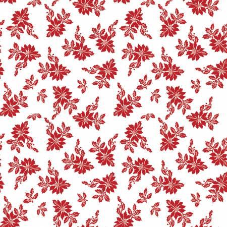 Santa Claus Lane Poinsettias White