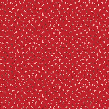 Santa Claus Lane Candy Canes Red