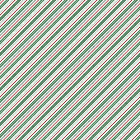 Santa Claus Lane Stripes Green