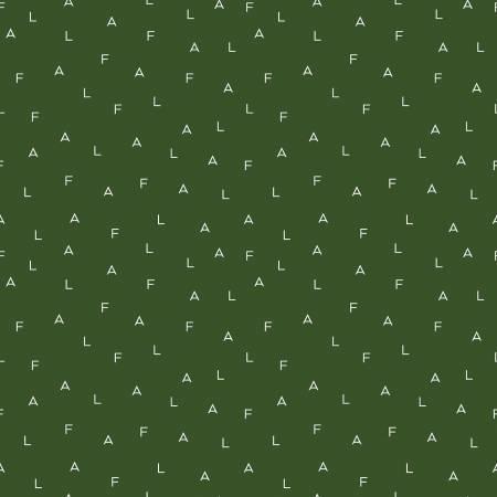 Yuletide Fa La Letters Green 9633-green