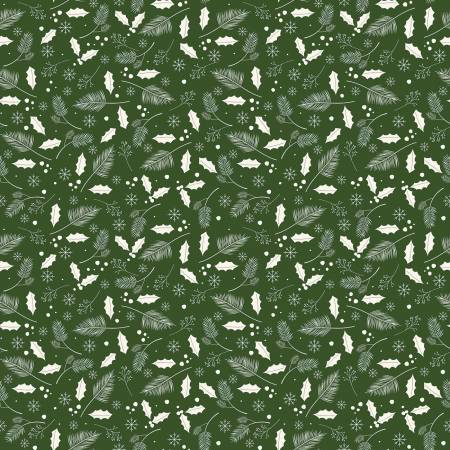 Yuletide Leaves Green