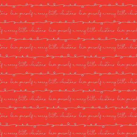 Merry Little Christmas Writing Red designed by Sandy Gervais for Riley Blake Designs C9643-Red