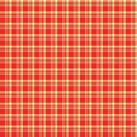 Merry Little Christmas Plaid Red